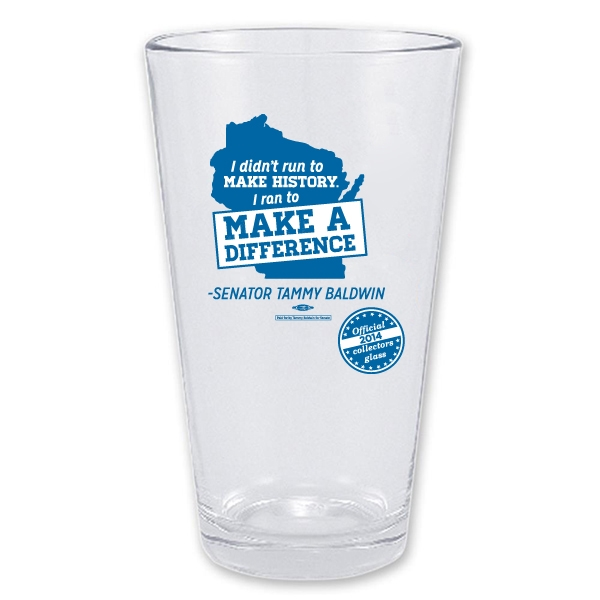 I Ran to Make a Difference Pint Glass